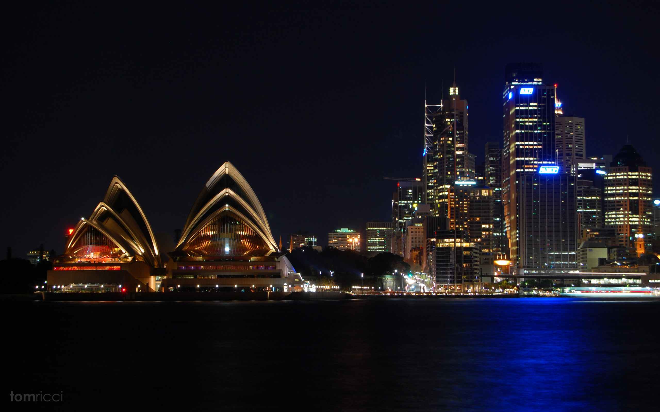 Обои Здание оперного театра в сиднее, ночь. Города foto 2