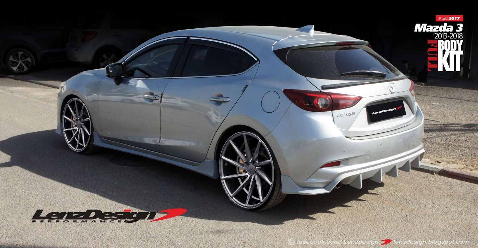 Mazda 3 BM Axela Hatchback Body Kit & Tuning Lenzdesign