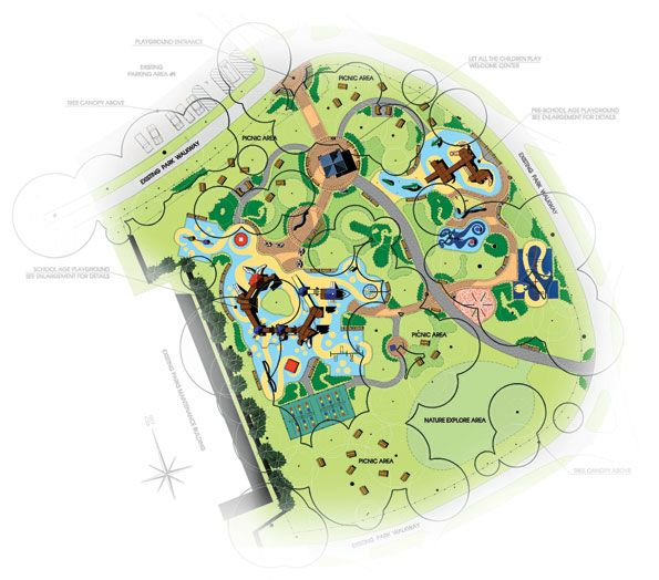 Barrier Free Site Plan For The Let All The Children Plan Facility At