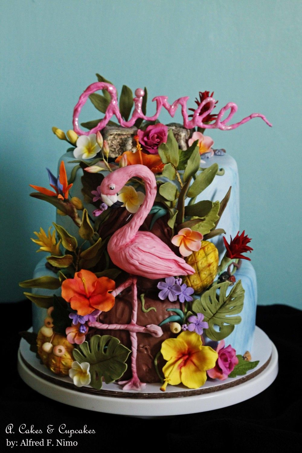 Aimee's Tropical birthday cake by Alfred (A. Cakes