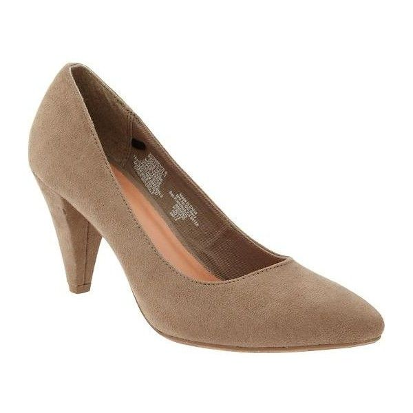Old Navy Womens Sueded Pumps - Mouse house ($23) via Polyvore