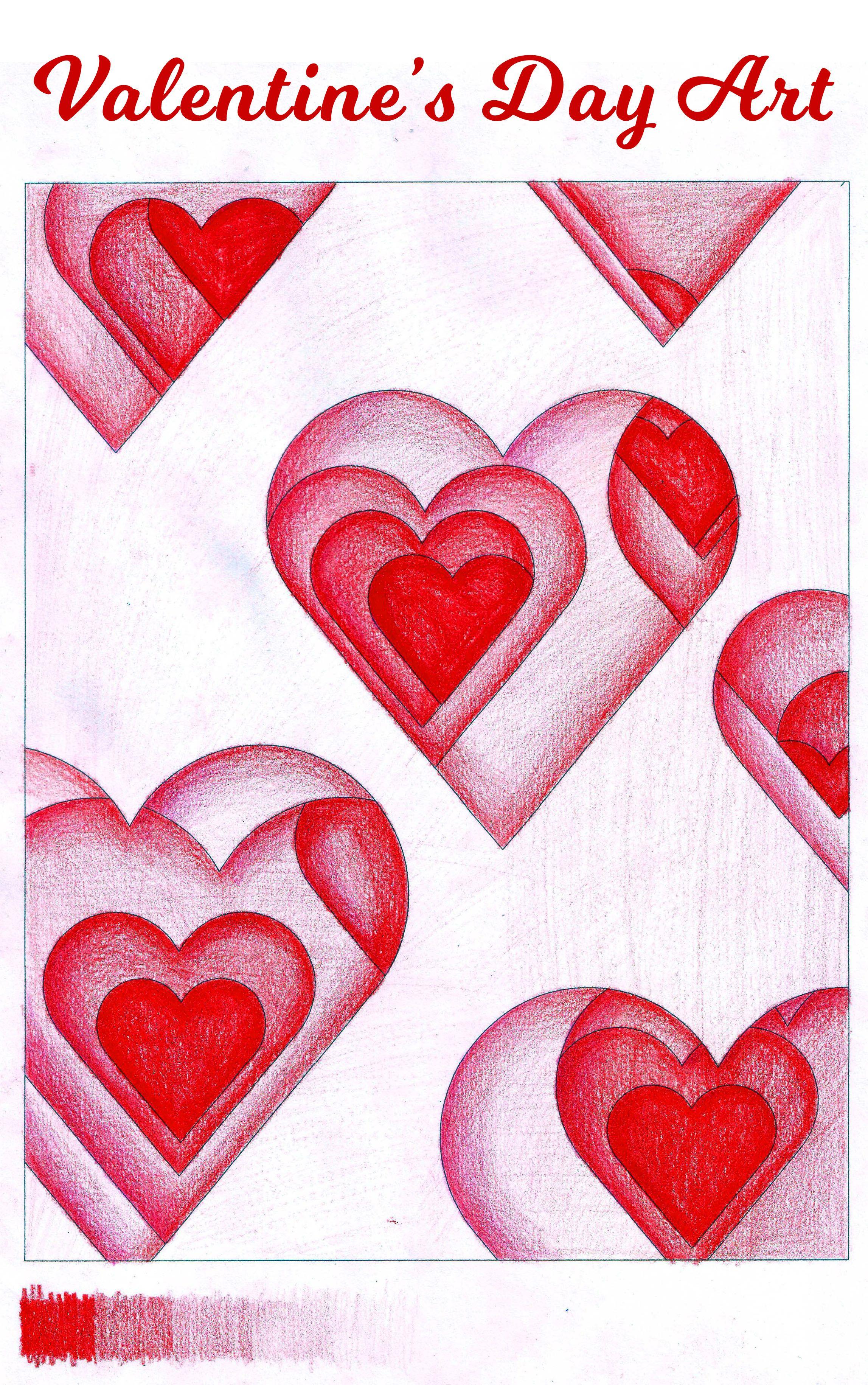 Valentine S Day Art Valentines Art Lessons Valentines Art Art Lessons