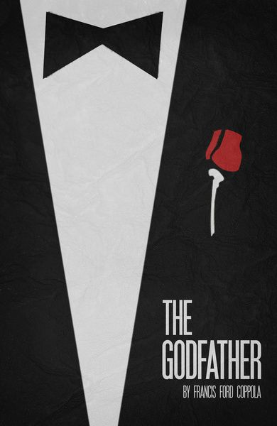 The Godfather - Minimalist Poster 01 Canvas Print | Mafia in 2018 ...