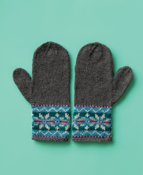 How To Knit Snow Day Mittens - DIY   Mittens, Snow and Fair isle ...