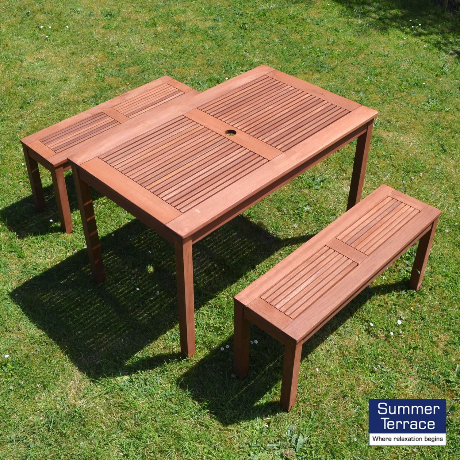 Awe Inspiring Summer Terrace Helsinki Bench Seat Set Oak Garden Garden Ocoug Best Dining Table And Chair Ideas Images Ocougorg
