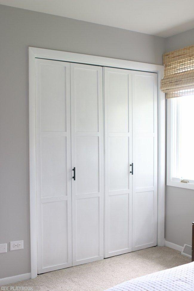 Diy Tutorial Transform Plain Bi Fold Doors Closet Door Makeover