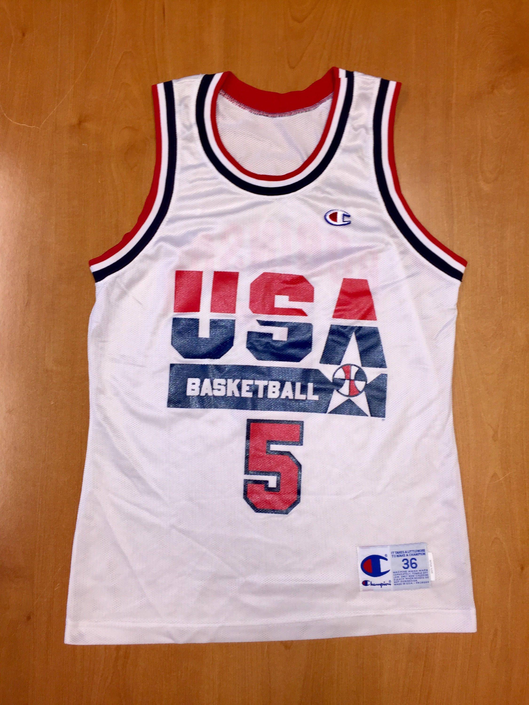 d22ac3ff04e Vintage 1992 David Robinson Dream Team Champion Jersey Size 36 usa charles  barkley michael jordan scottie pippen magic johnson spurs nba by ...