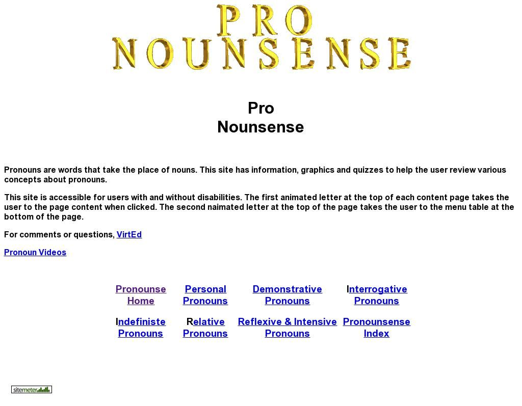 Pronouns Home On Nounsense Nouns Words Adjectives [ 797 x 1024 Pixel ]