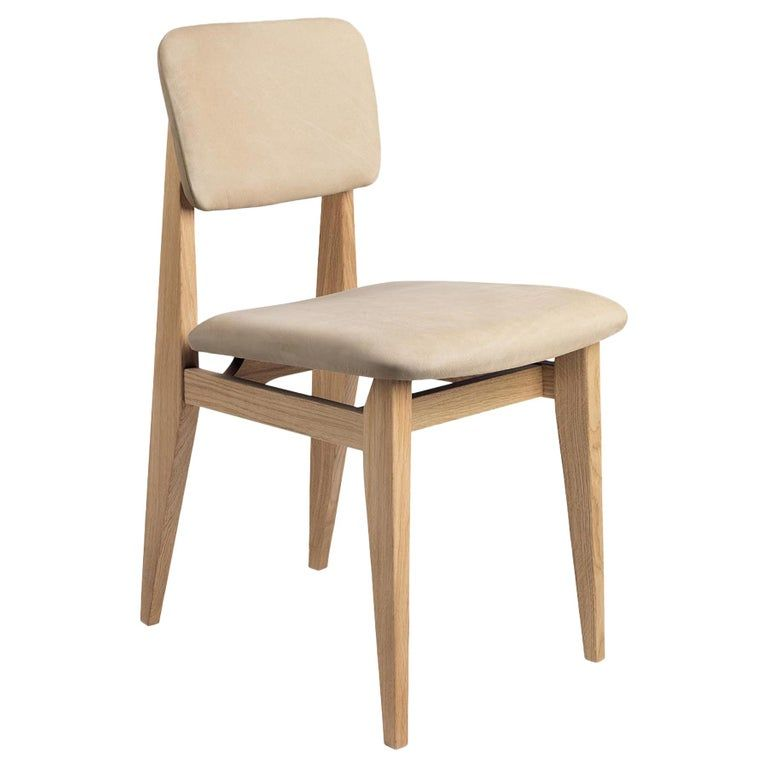 C Chair Dining Chair Fully Upholstered Natural Oak Dining