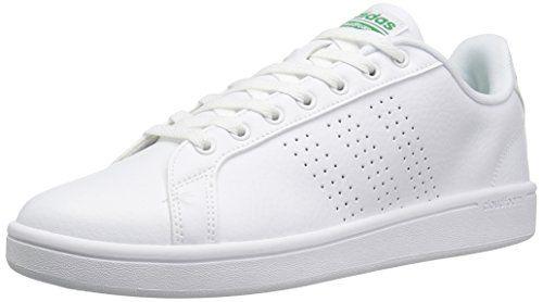 Cloudfoam Advantage, Baskets Homme, Blanc (Footwear White/Footwear White/Green), 44 EUadidas