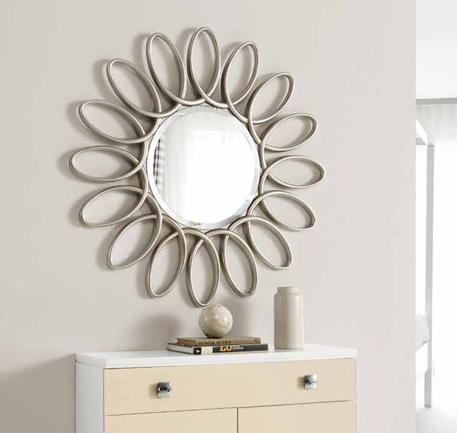 Espejo decorativo plateado espejo de recibidor espejo for Espejos decorativos de pared