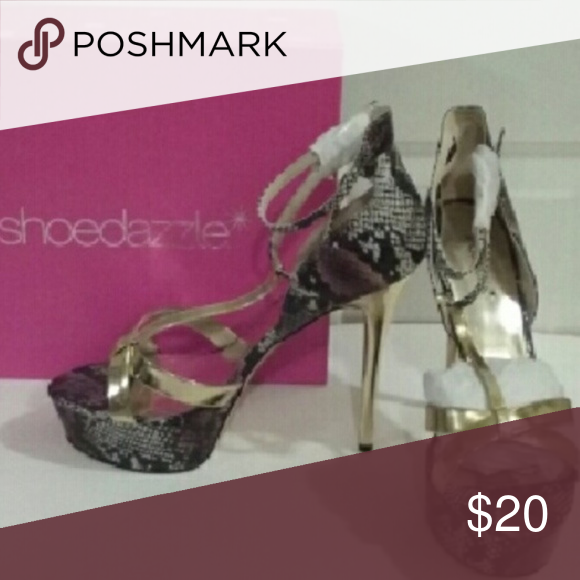 db1e96ada6f Shoedazzle Snakeskin Heels with FREE tote bag! NEW Price Drop* NEW ...