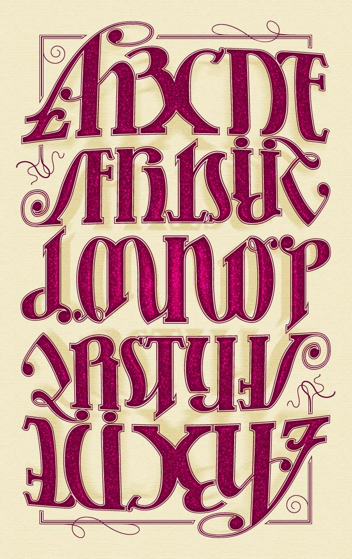 alphabet ambigram Lettering alphabet fonts, Lettering