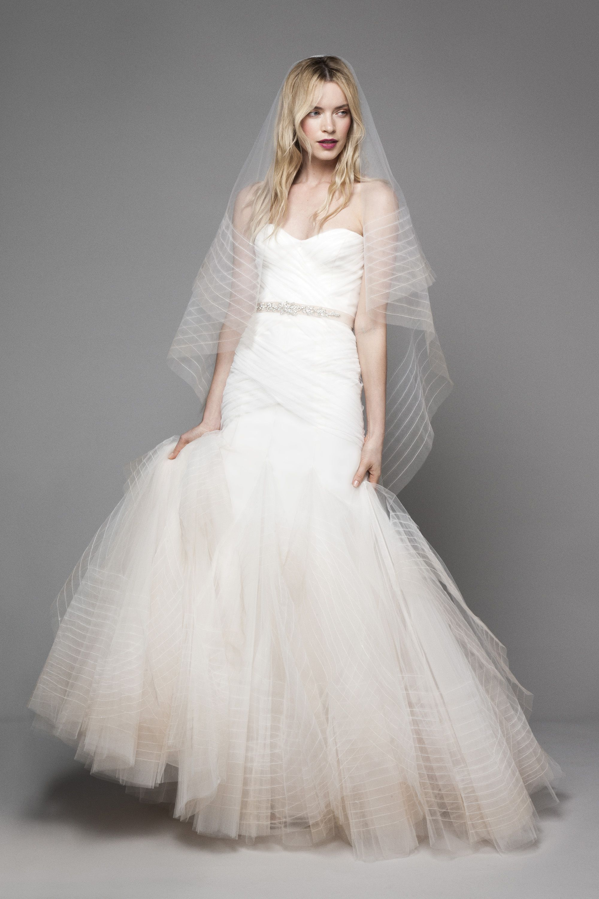 Wedding dresses kleinfeld  Fit And Flare Wedding Dress on Kleinfeld Bridal  A striking Fit and
