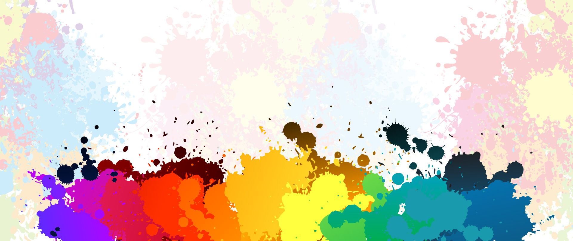 Colorful Ink Splash Brush Background In 2020 Paint Splash