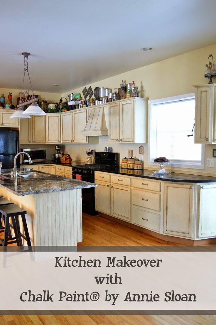 Chalk Paint by Annie Sloan Kitchen Makeover   kitchen cabinets ...