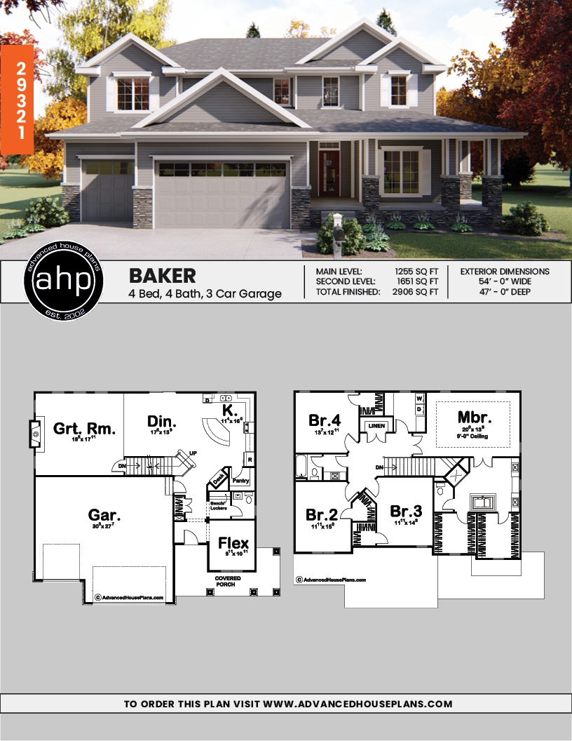 2 Story Traditional House Plan House Blueprints House Plans Craftsman House Plans