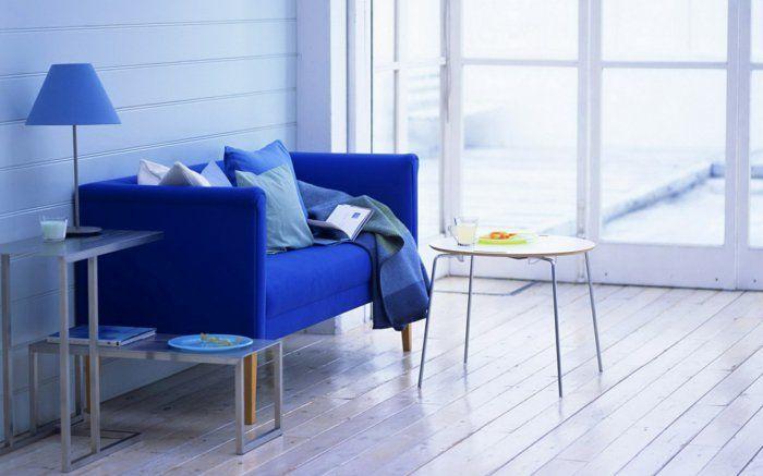 Delightful Blaues Sofa Blaue Akzente Wohnzimmer Einrichten