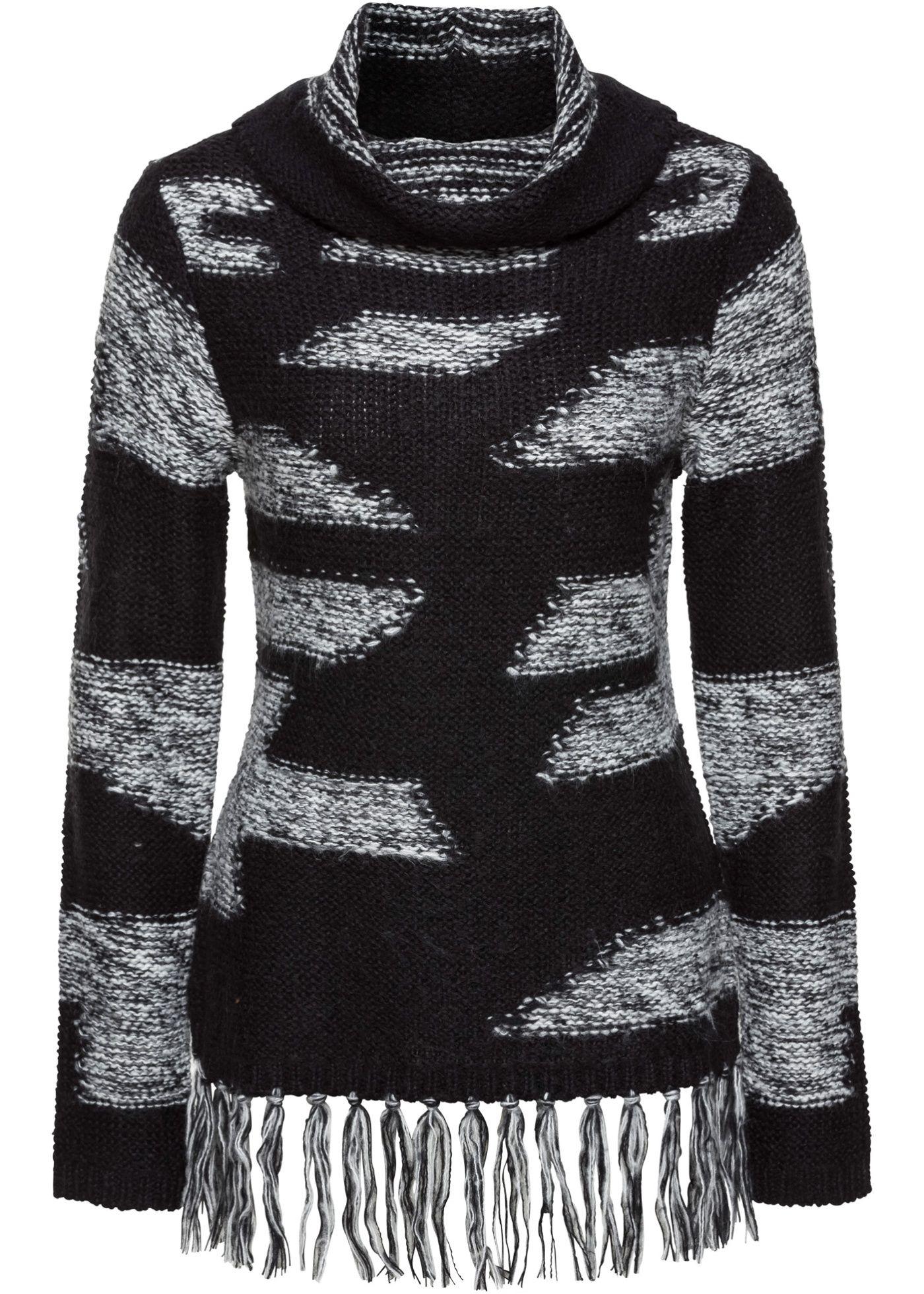 Pullover mit Fransen | Pullover, Rollkragen und Bekleidung