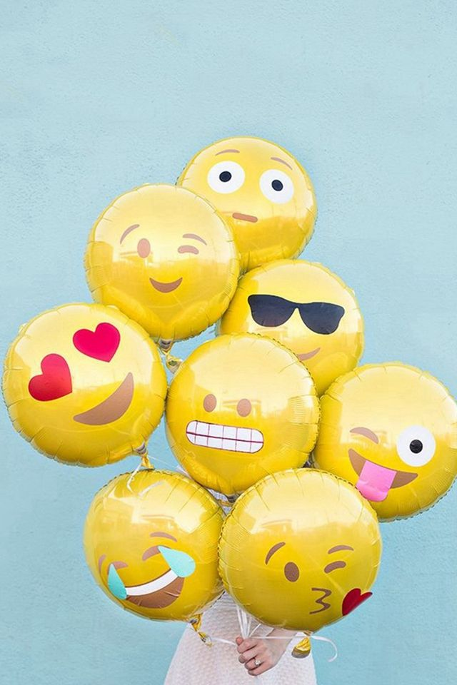 Abstract Funny Cute Emoji Balloons IPhone 4s Wallpaper
