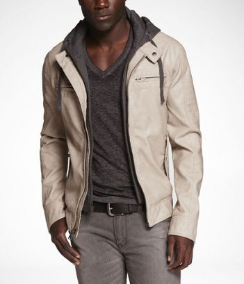 MINUS THE) LEATHER HOODED SYSTEM JACKET at Express | In The Closet ...