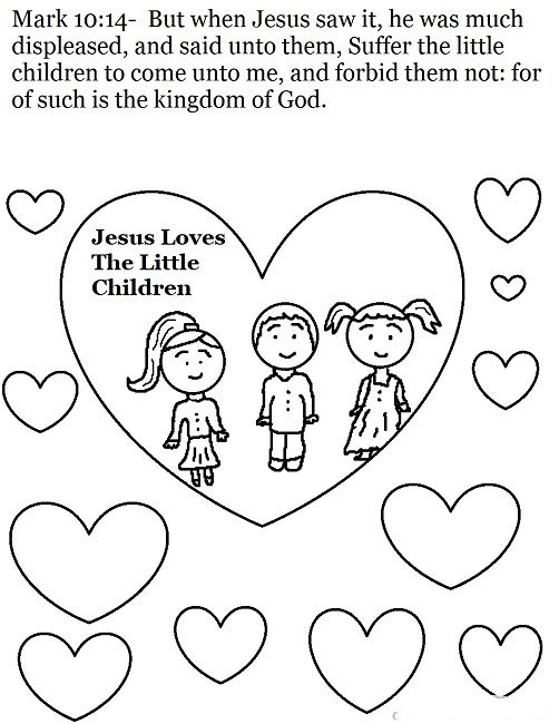 Bible Coloring Pages Love One Another Sunday School Coloring