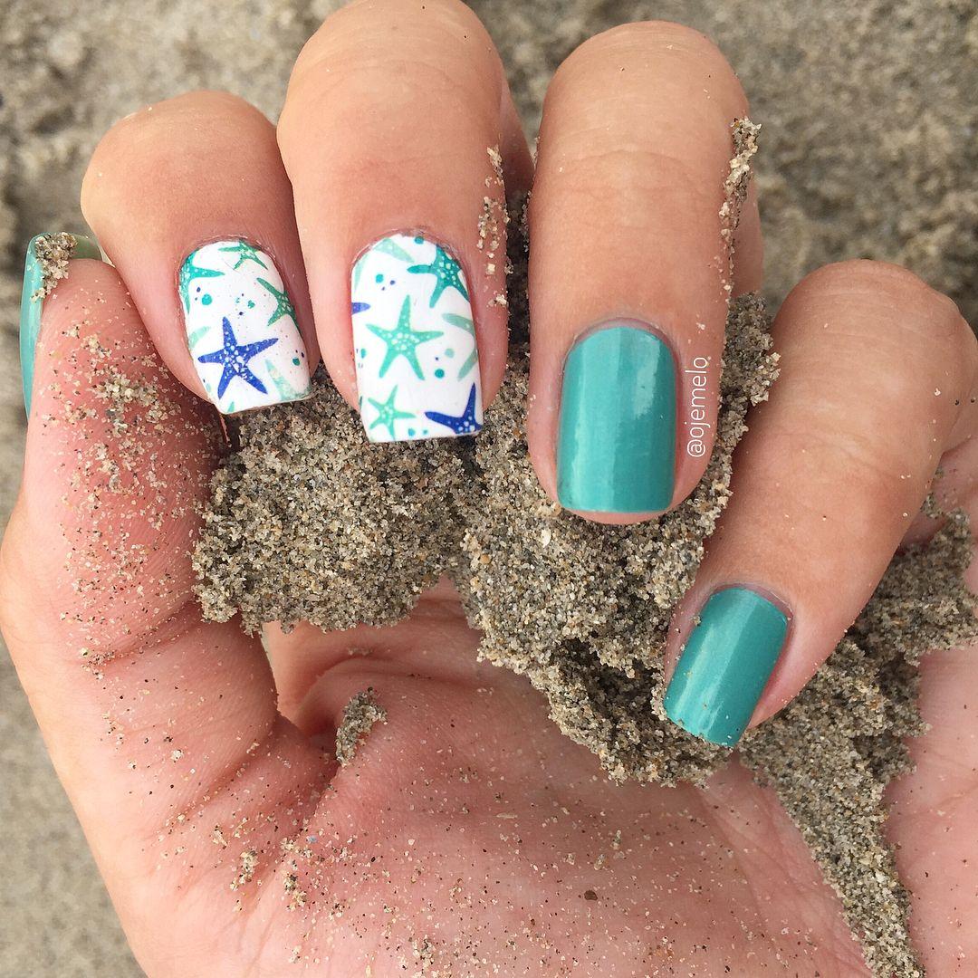BORN PRETTY Ocean Starfish Nail Art Water Sticker nail design review from  bornprettystore.com customer - BORN PRETTY Ocean Starfish Nail Art Water Sticker Nail Design Review