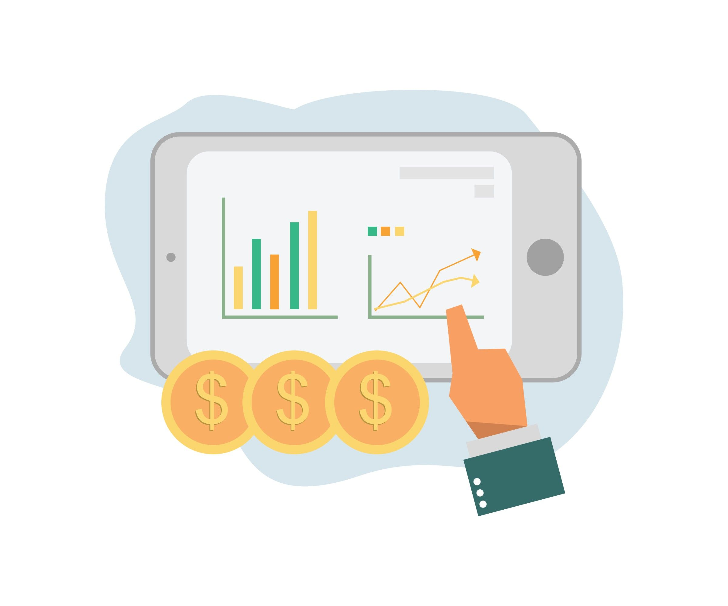 Data Analysis Flat Illustration With Simple Layout