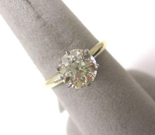 SAVE 76% ANTIQUE VINTAGE ESTATE SINGLE LARGE 1.80CT DIAMOND 14K ENGAGEMENT RING! | eBay