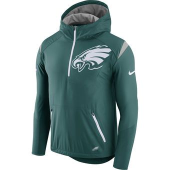 on sale bac44 70905 Nike Philadelphia Eagles Green Sideline Fly Rush Half-Zip ...