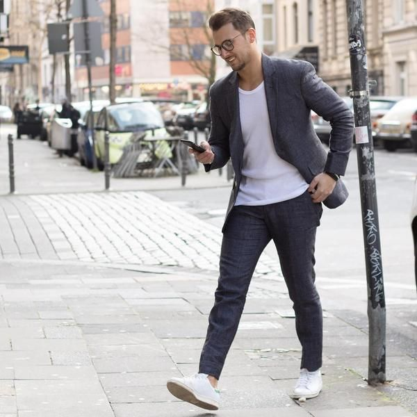 How To Wear Sneakers At Work Mens Smart Casual Outfits Mens Fashion Blog Smart Casual Outfit