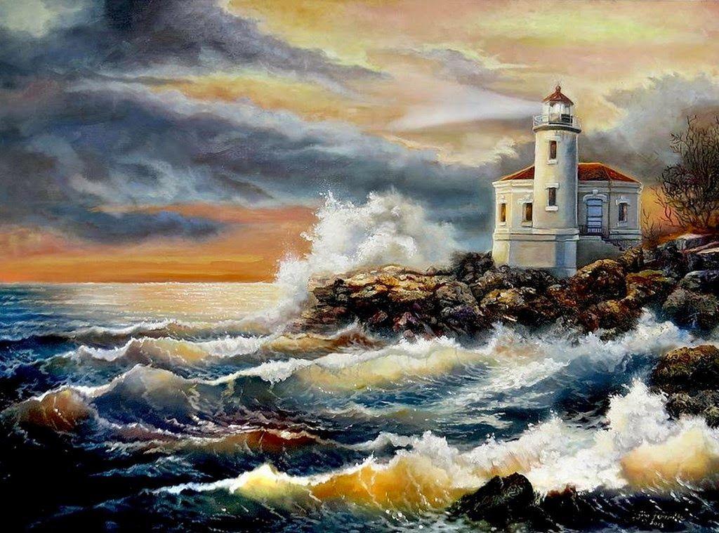 Resultado de imagen para oleos paisajes marinos   Luz de los Mares ...