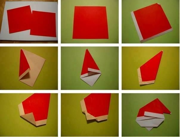 Pin By Szilvia Rammer On Diy Pinterest - Origami-papa-noel