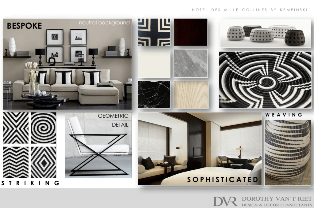 Mood Board Showing The Interior Design And Decoration Of