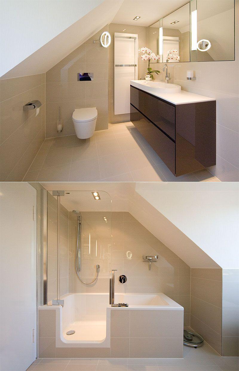 Bildergebnis für bad mit schräge   Badezimmer mit schräge, Badezimmer dachschräge, Badezimmer