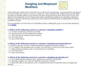 Worksheets Dangling Modifiers Worksheet dangling and misplaced modifiers worksheet grammar pinterest worksheet