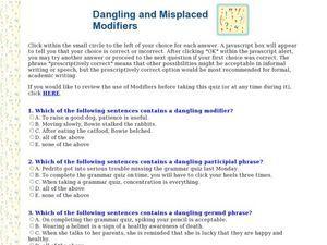 worksheet. Misplaced And Dangling Modifiers Worksheet. Grass Fedjp ...