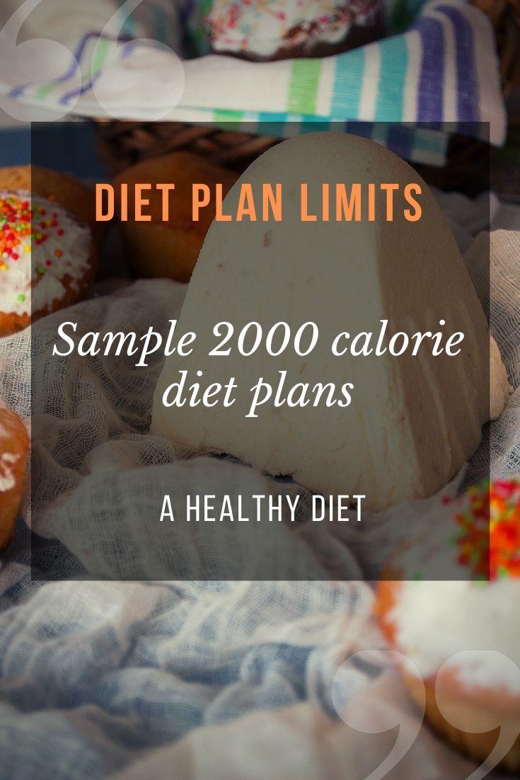 2000 Calorie Diet Menu And Meal Plan In 2020