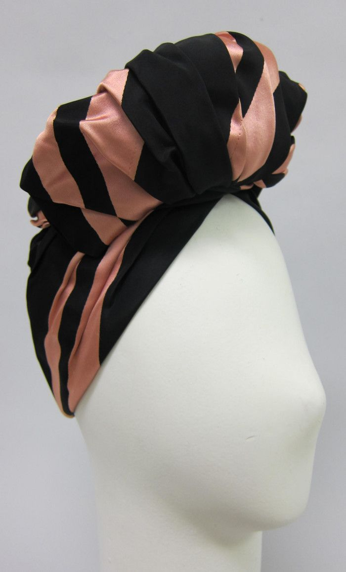 d7bcd94f20841b Turban, Lilly Daché, 1940-5. | Vintage Hats in 2019 | 1940s hats ...