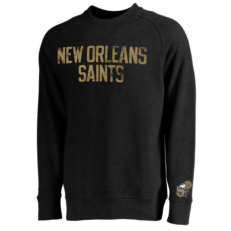 New Orleans Saints NFL Pro Line Monument Crew Sweatshirt - Black