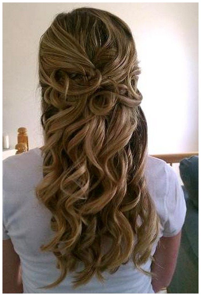 Half Up Down Wedding Hairstyles Instructions Long