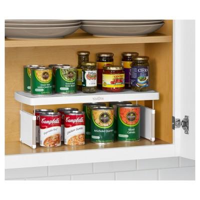 Youcopia Kitchen Cabinet Organizer Cream Ivory Kitchen Cabinet Organization Adjustable Shelving Diy Kitchen Cabinets