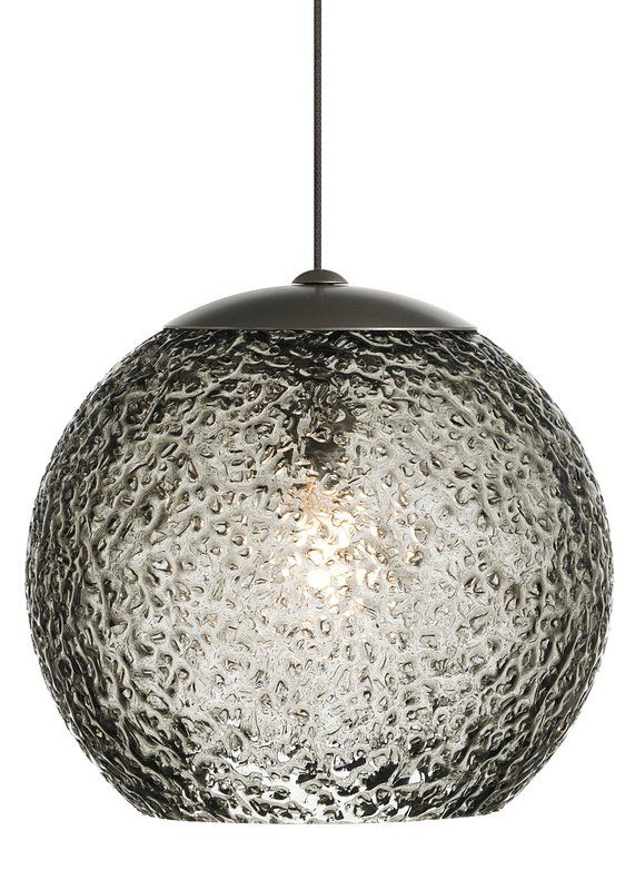 View the lbl lighting mini rock candy g smoke 50w monopoint 1 light mini pendant at