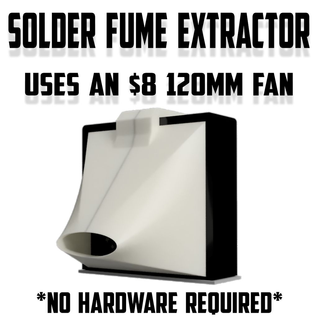 Solder Fume Smoke Extractor 120mm Fan No Hardware Diy Tool For Micro Electronics By Leatherneck Garage Hardware Diy Jewelry Studio Space Diy Tools