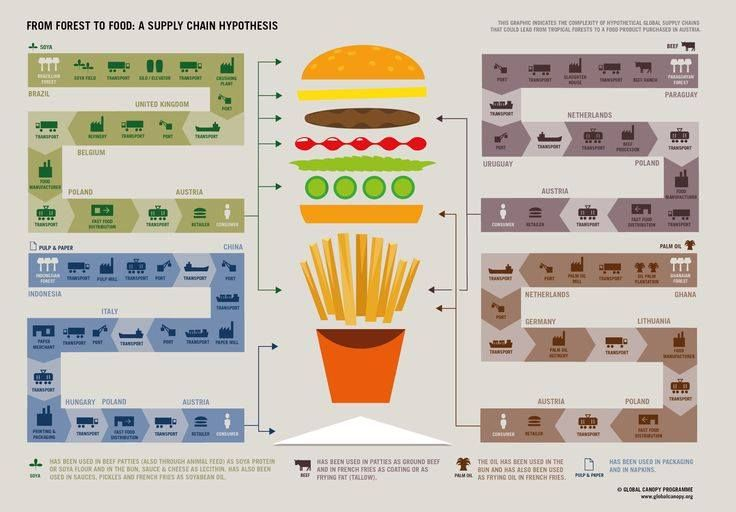 Food Miles Supply Chain Infographic Supply Chain Creative Infographic