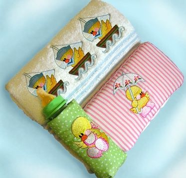 machine embroidery projects | Machine Embroidery Designs Delightful Duckies Machine Embroidery ...I purchased this and love love it for baby gifts.