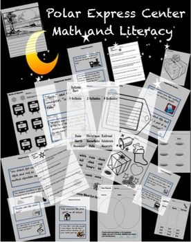 Polar Express Literacy And Math Worksheets Math Worksheets Math Polar Express