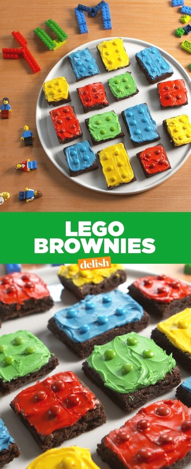 LEGO Brownies are officially our favorite way to play with our food. Get the recipe at .