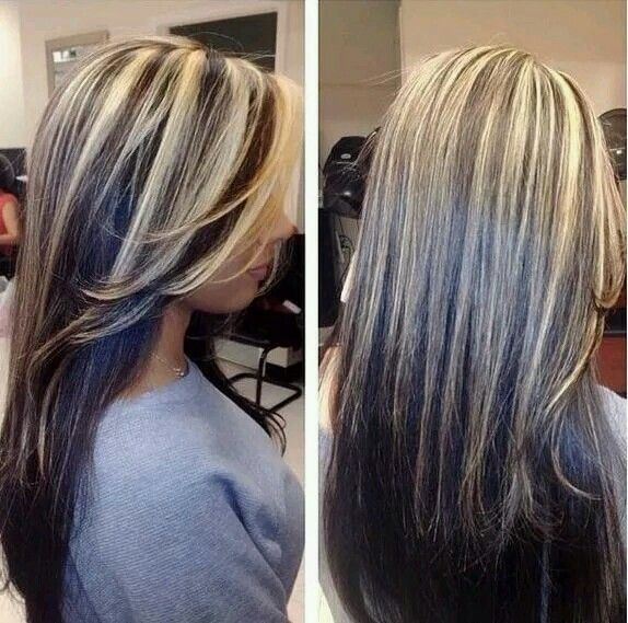 Highlights from top to ends hair and beauty pinterest hair hair color trends 2018 highlights for my dark hair ladies who want to add highlighteat for gray coverage love pmusecretfo Choice Image