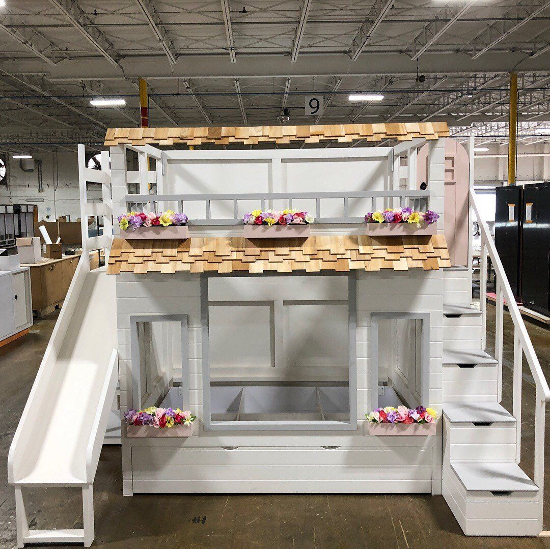 Haylie's Garden Villa Bed Offered as a Loft or Bunk Bed